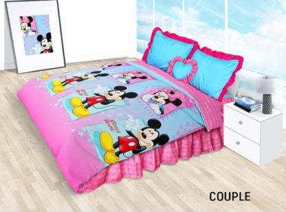 Sprei Rumbai King California motif Mickey & Minnie Couple