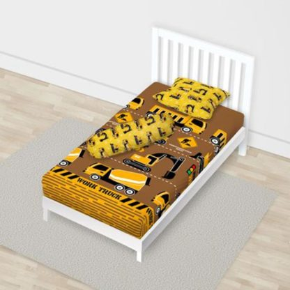 Sprei California Disperse Uk 120x200 Single - Yellow Truck