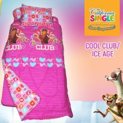 Sprei California Disperse Single Motif Cool Club/Ice Age