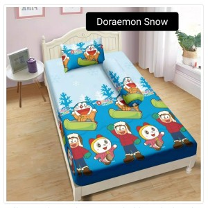 Sprei Aloha Single 120x200 - DORAEMON SNOW