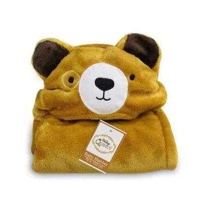 Selimut / Blanket Baby Vallery 70x100cm dengan Hoodie - Bear