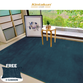 Kintakun Luxury - Karpet Selimut 150x200cm Halus & Lembut - ASHLY (NAVY)