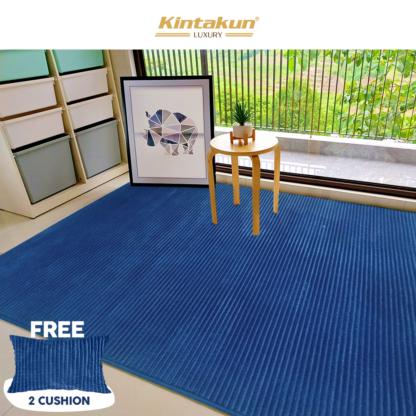 Kintakun Luxury - Karpet Selimut 150x200cm Halus & Lembut - BENTLEY (BLUE)