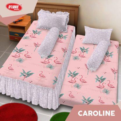 Sprei Single 2in1 Kintakun Deluxe Sorong Motif Caroline