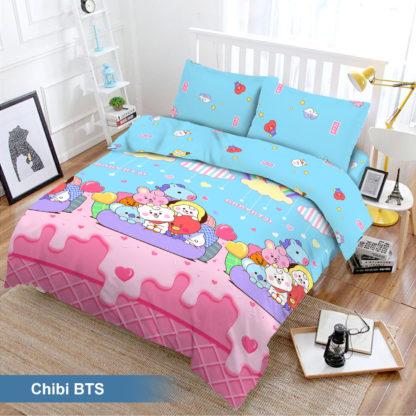 Bed Cover Set 3D King NEW VITO motif Chibi BTS