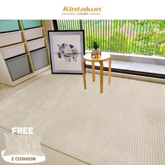 Kintakun Luxury - Karpet Selimut 150x200cm Halus & Lembut - ELDER (CREAM)