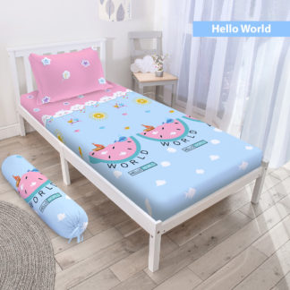 Sprei 3D Single NEW VITO motif Hello World