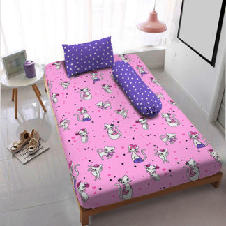 Sprei Single Kintakun 3D Deluxe / Dluxe Terbaru Kitty Cat
