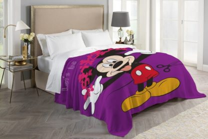 Selimut ASLI INTERNAL Terlaris Uk 160x200 cm - LETS BE MICKEY