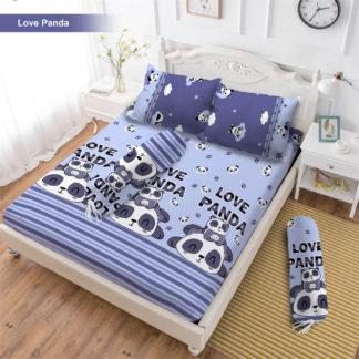 Sprei 3D King NEW VITO motif Love Panda