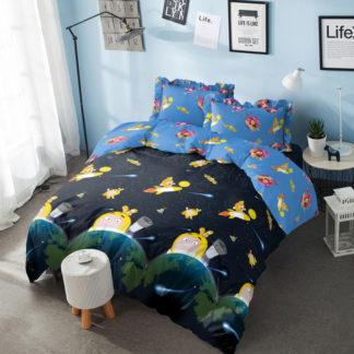 Bed Cover King Kintakun 3D Santika Deluxe / D'luxe Oddbods Space