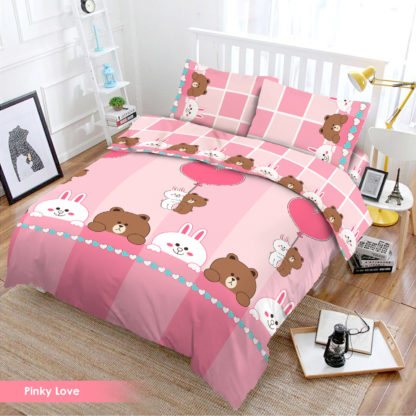 Bed Cover Set 3D King NEW VITO motif Pinky Love