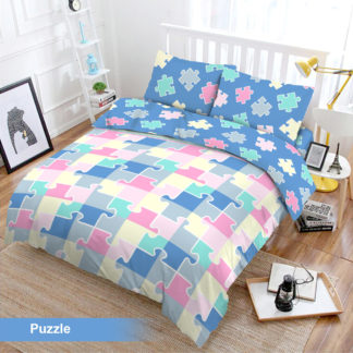 Bed Cover Set 3D King NEW VITO motif Puzzle