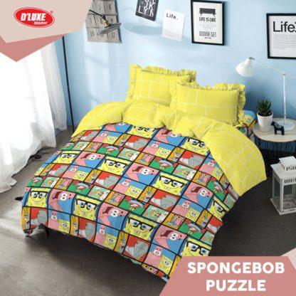Bed Cover King Kintakun Terbaru Deluxe / D'luxe Spongebob Puzzle