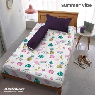 Sprei Single Kintakun Luxury Super Soft Microfiber (5in1) tinggi 30 cm - Summer Vibe