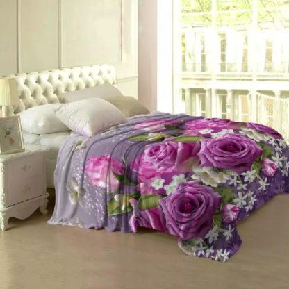 Selimut Lady Rose Terlaris bulu halus uk 160x200 motif Janice