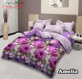 Bed Cover Lady Rose Ukuran King Set motif Amelia
