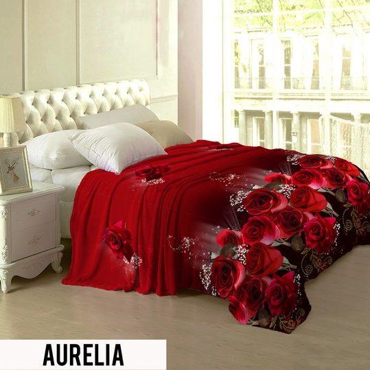 Selimut Lady Rose Terlaris bulu halus uk 160x200 motif Aurelia