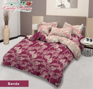 Bed Cover Lady Rose Ukuran King Set motif Banda
