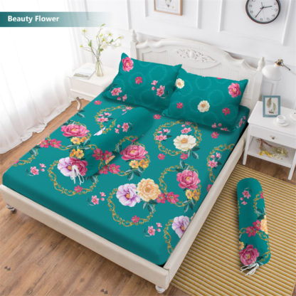 Sprei 3D King NEW VITO motif Beauty Flower