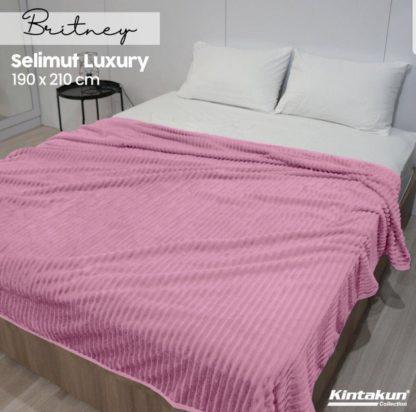 Selimut Kintakun Luxury Lembut & Mewah 190x210cm - Britney - Pink