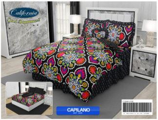 Bed Cover California Ukuran King Set motif Capilano