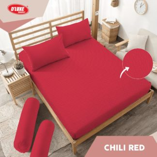 Sprei King Kintakun Polos Embosed Deluxe / D'luxe Chili Red