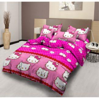 Bed Cover Lady Rose Ukuran King Set motif Hello Kitty & Daniel Pink