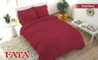 Sprei Fata King Ukuran 180x200 Polos Embosed - Dark Rose