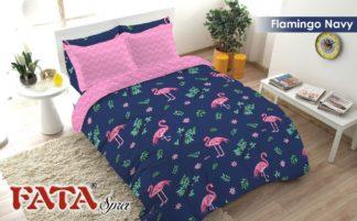 Sprei King FATA Signature Flamingo Navy
