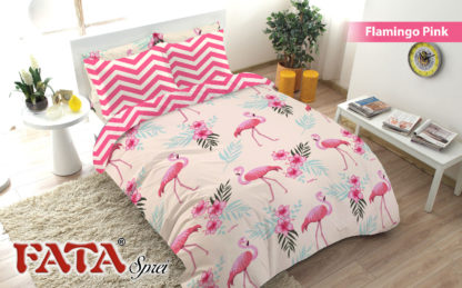 Bed Cover King FATA Flamingo PINK