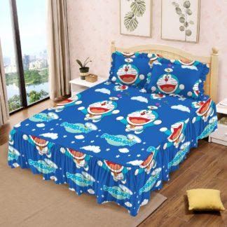 Sprei Rumbai Lady Rose Ukuran King motif Doraemon FLY