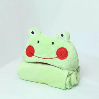 Selimut / Blanket Baby Vallery 70x100cm dengan Hoodie - Frog
