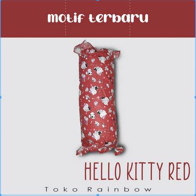 Bantal Gendang Set - Hello Kitty Red