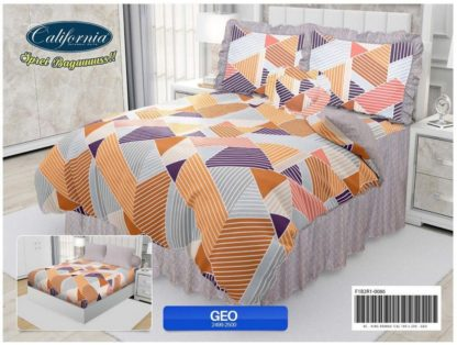 Sprei Rumbai King California motif Geo