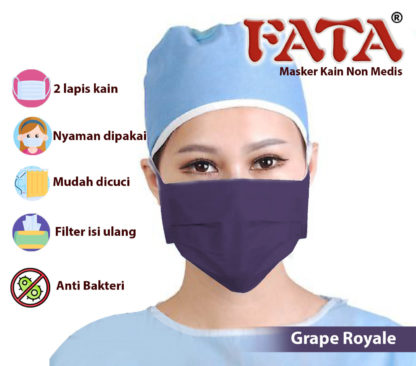 Masker Kain Fata Isi Satu Lusin (12 pcs) Bisa Refill Tissue