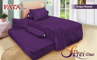 Sprei Single 2in1 terbaru FATA Grape Royal