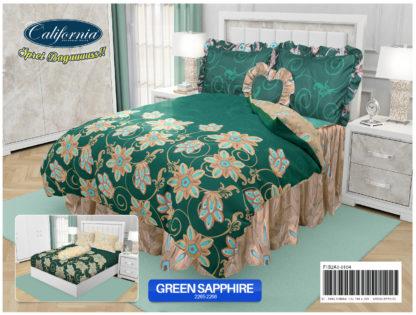 Sprei California King Motif Green Saphire