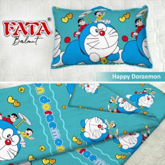 Balmut / Bantal selimut FATA Motif Happy Doraemon