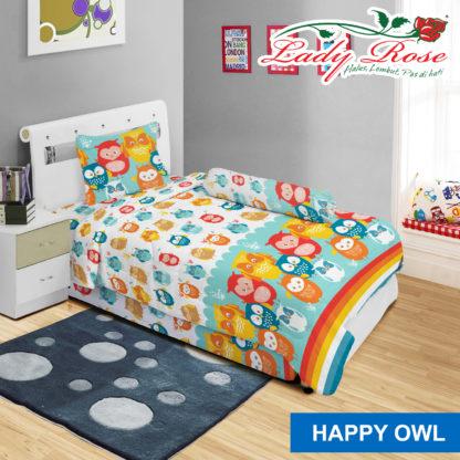 Sprei Lady Rose 120x200 Single terlaris Happy Owl