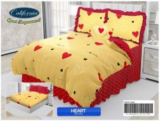 Sprei Rumbai King California motif Heart
