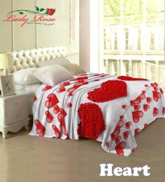 Selimut Lady Rose Terlaris bulu halus uk 160x200 motif Heart