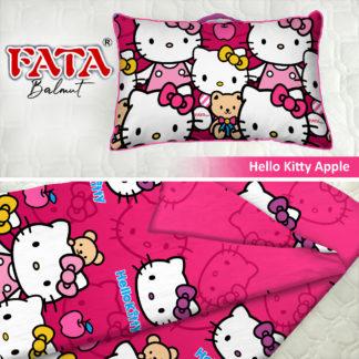 Balmut / Bantal selimut FATA Motif Hello Kitty Apple