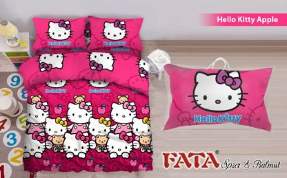 Bed Cover King FATA Hello Kitty Apple