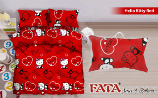 Sprei FATA Signature 100x200 Hello Kitty Red