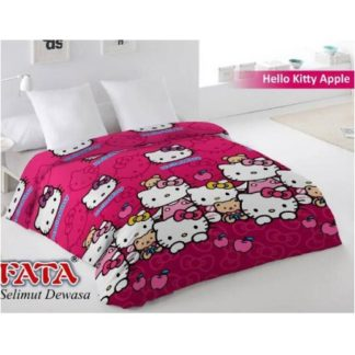 Selimut Fata Jumbo 200x200 Terlaris - Hello Kitty Apple