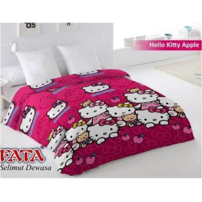 Selimut Fata Jumbo 200x200 Terlaris - Hello Kitty Apple