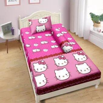 Sprei Lady Rose 120x200 Single terlaris Hello Kitty and Daniel Pink
