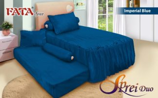 Sprei Single 2in1 terbaru FATA Imperial Blue