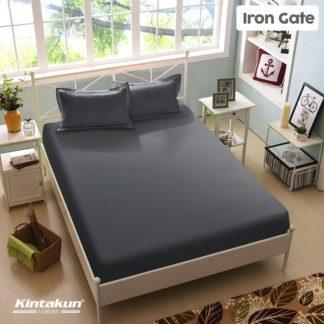 Sprei King Kintakun Luxury Super Soft Microfiber (5in1) tinggi 30 cm - Iron Gate